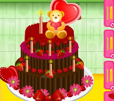 لعبة تزيين الكعكة