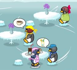 لعبة مطعم البطاريق