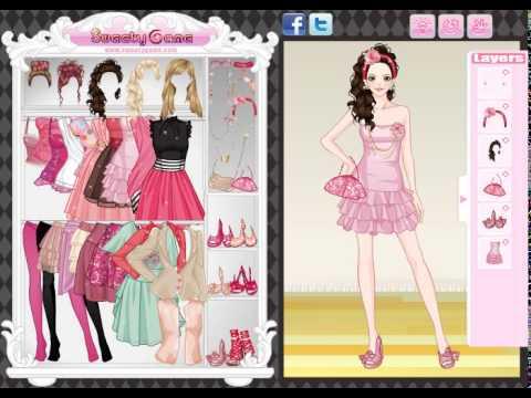 لعبة الملابس الوردية