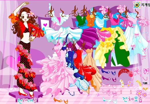 لعبة الفتاة الراقصة