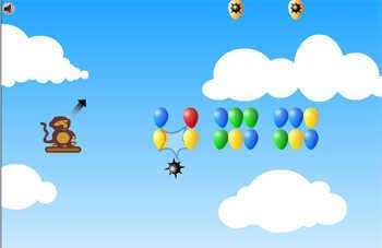 لعبة صائد البالونات