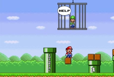 لعبة مغامرات ماريو لانقاذ لويجي