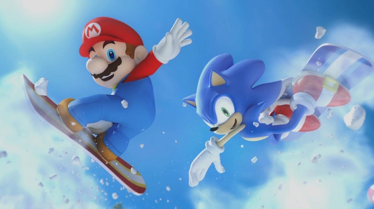 لعبة سباق تزلج ماريو وسونيك