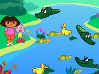 لعبة دورا في بحيرة التماسيح