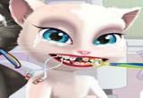 لعبة علاج أسنان القط أنجيلا مصاص الدماء