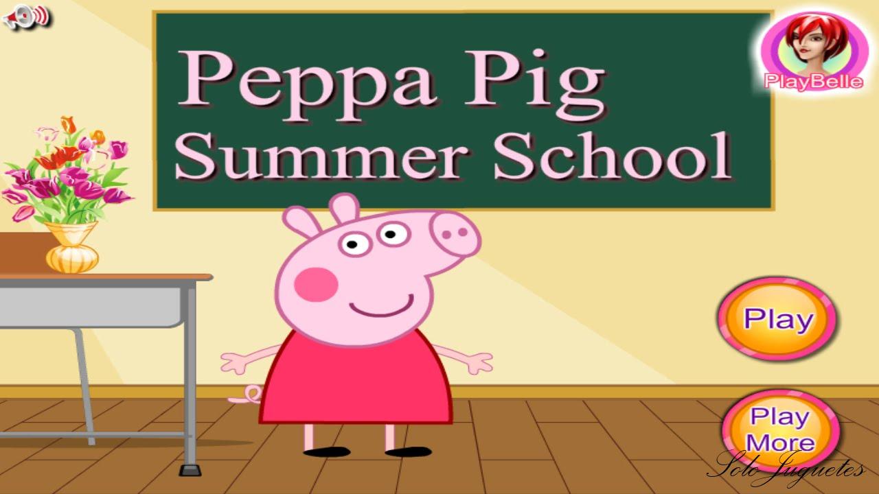 لعبة الخنزير بيبا في المدرسة