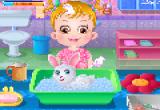 لعبة آنا وتنظيف الأرنب