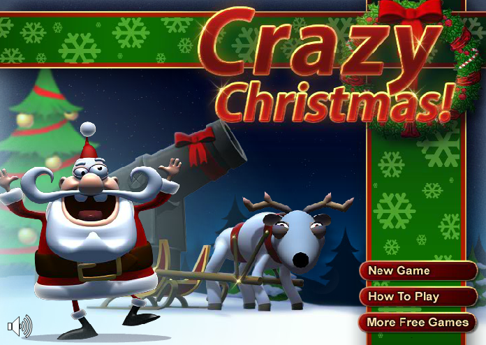 لعبة مدفع سانتا المجنون